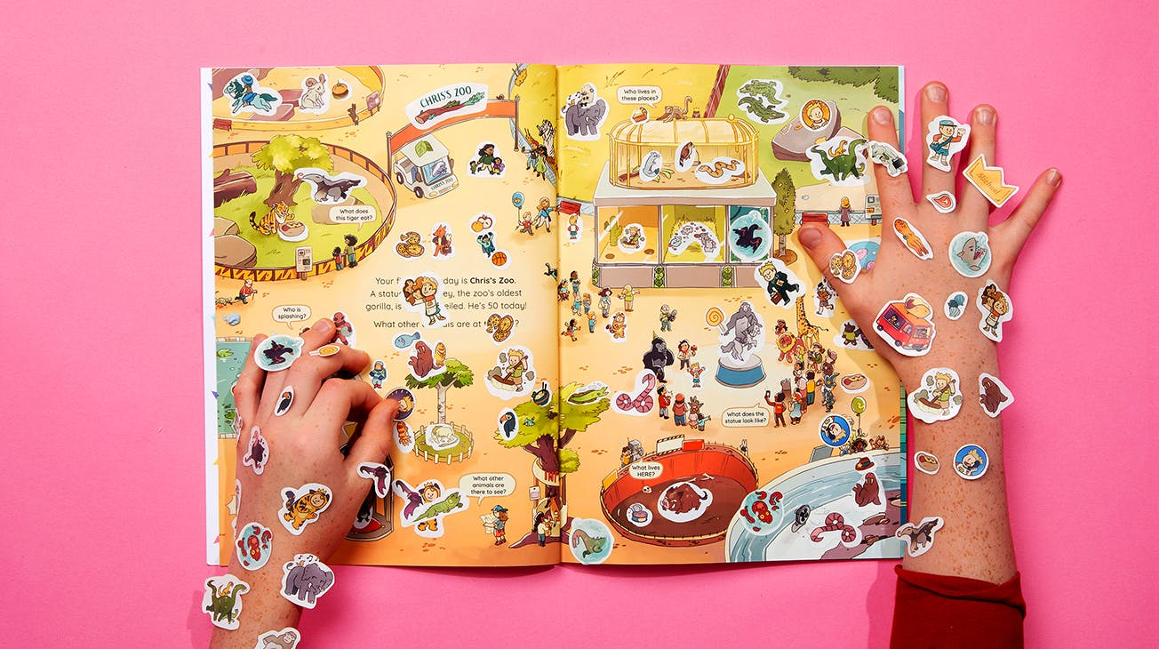 DTS open spread hands with stickers