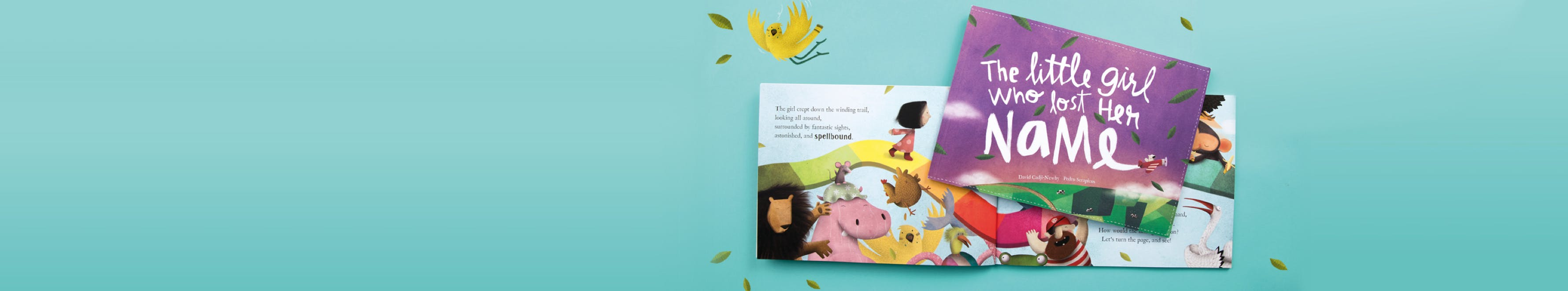 Picture of The Little Girl Who Lost Her Name book cover and interior spread