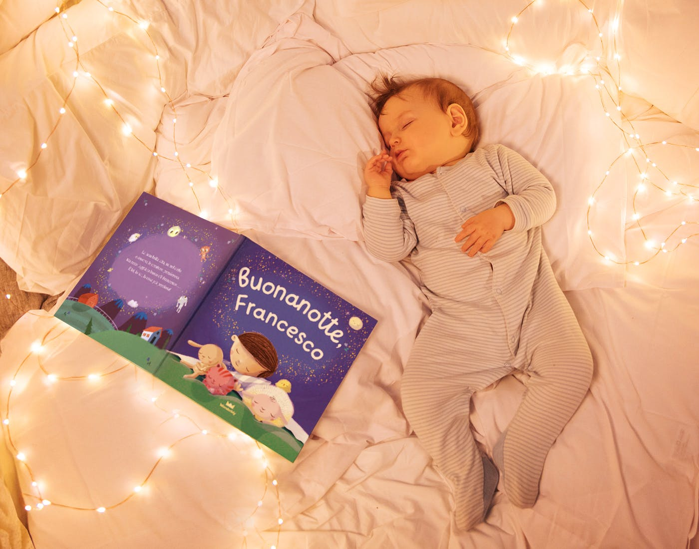 Baby asleep with Bedtime For You Book