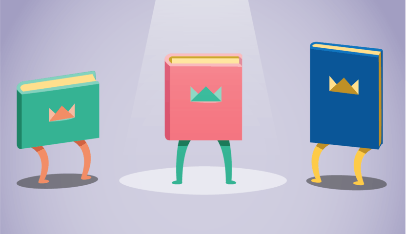 A range of different books illustration How it works