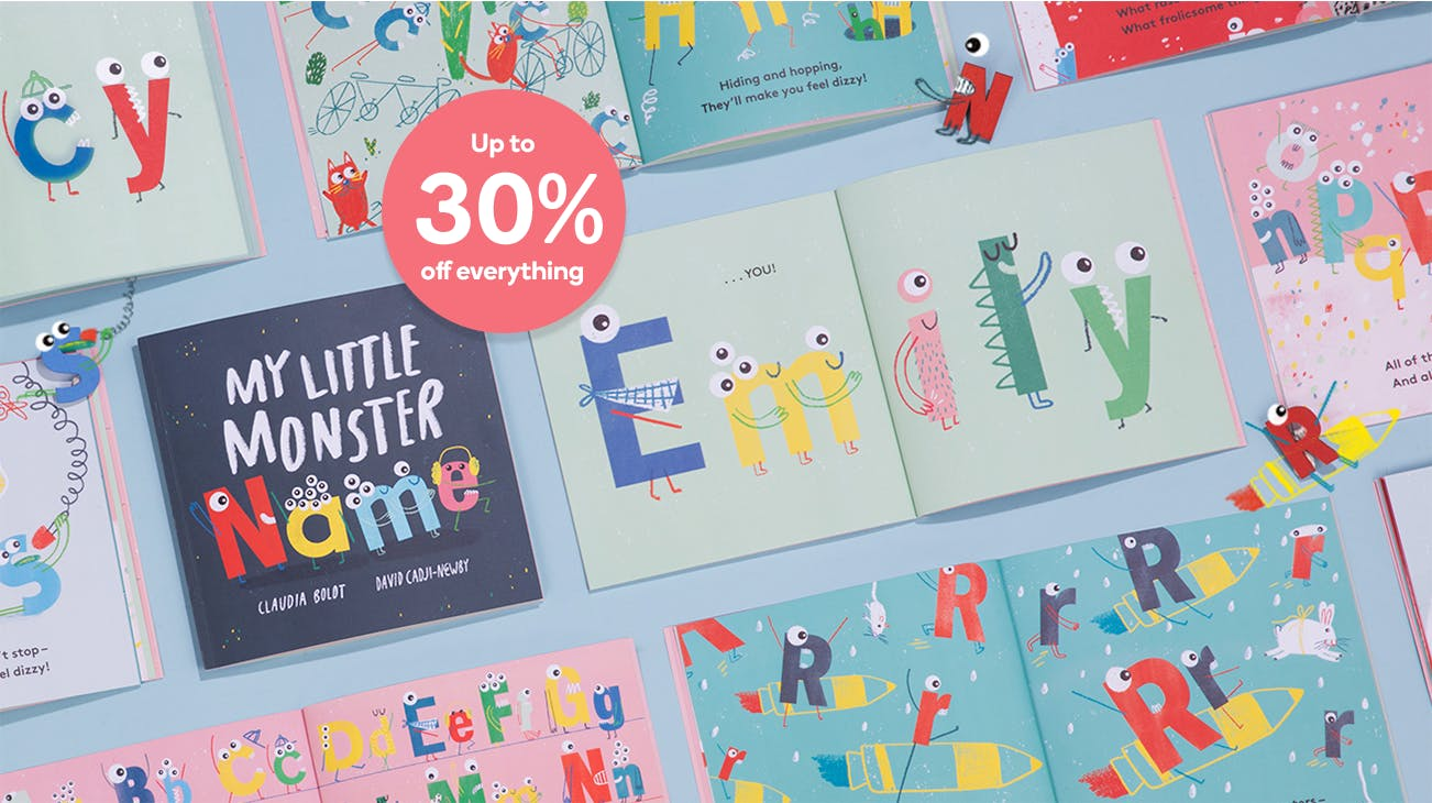 Up to 30% off personalized books