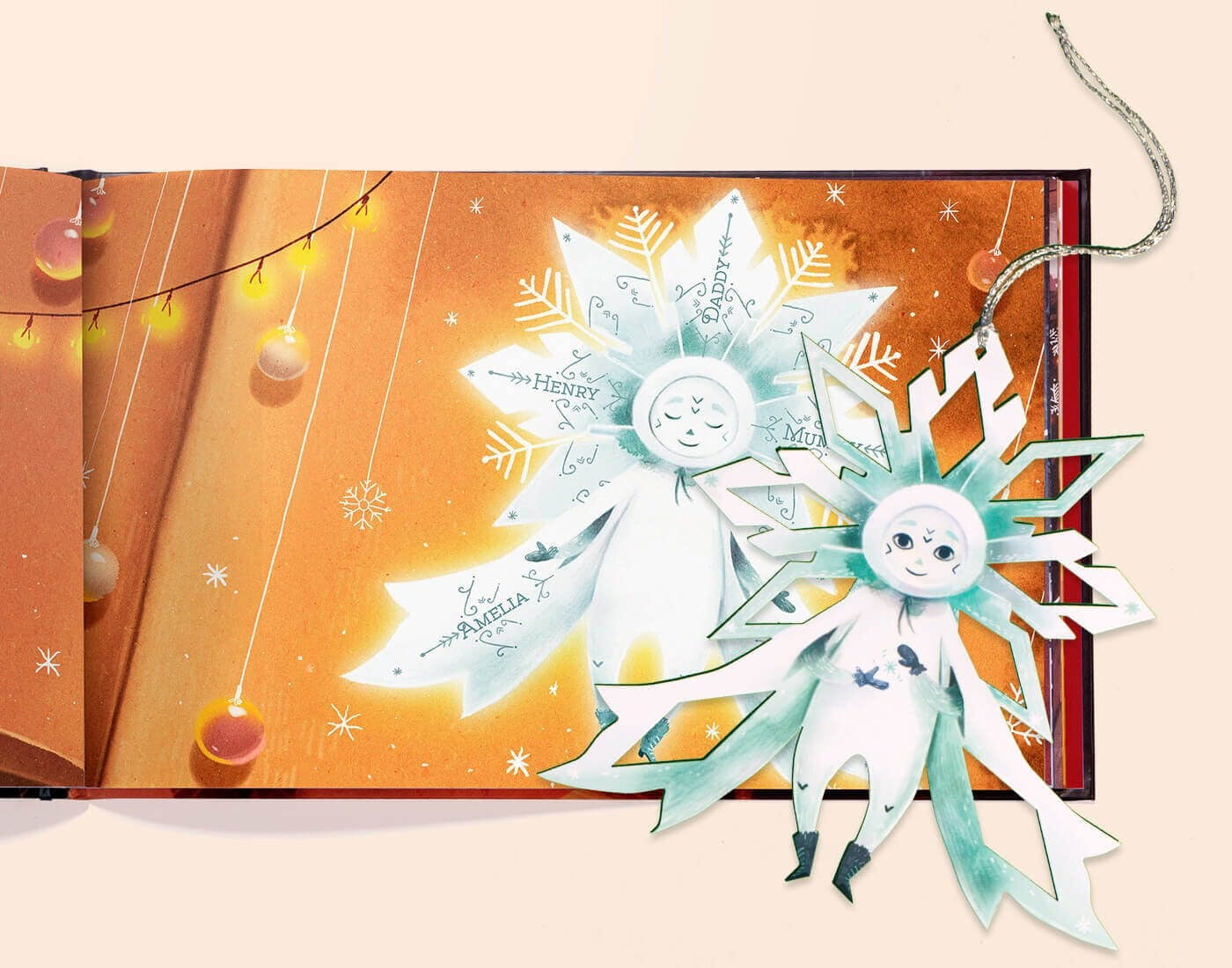The Christmas Snowflake - Product Description of the pop out snowflake that comes with the book
