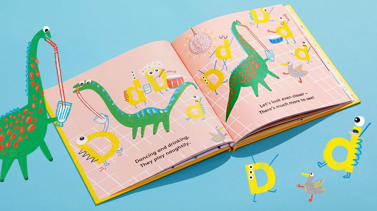 Inside Spread of My Little Monsters Book